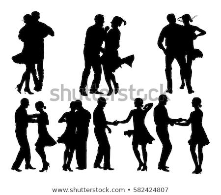 latino dance silhouettes stock photo © derocz