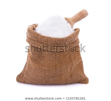 Sea salt in sack Stock photo © mady70
