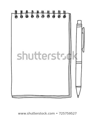 Page of block notes in hand  Stock photo © oly5