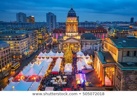 ベルリン · クリスマス · 市場 · 建物 · 市 · 光 - ストックフォト © lianem
