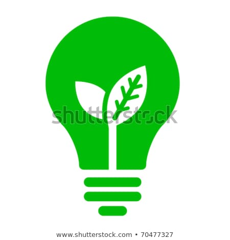 Foto stock: Eco · global · energía · bombilla · signo · vector