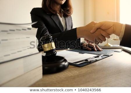 семьи консультант Финансы страхования деньги Сток-фото © Kzenon