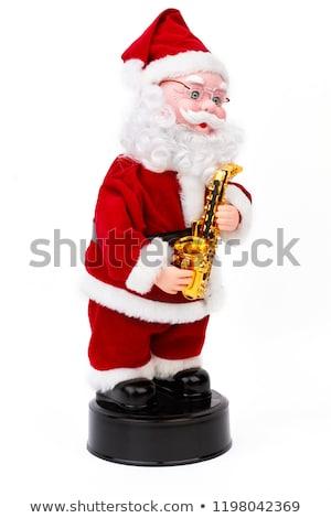 Noel baba bebek adam kar takım elbise komik Stok fotoğraf © gllphotography