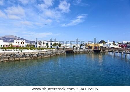 new harbor in Playa Blanca Stock photo © meinzahn