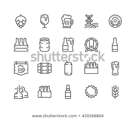 sör · vektor · ikon · szett · üveg · üveg · pint - stock fotó © vectorpro
