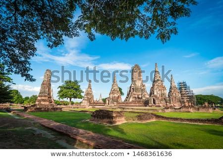 tapınak · ağaç · bulutlar · vücut · kilise · Asya - stok fotoğraf © AEyZRiO