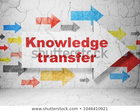 Knowledge Transfer Concept. Vintage design. Stock photo © tashatuvango