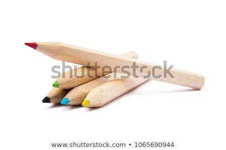 szett · szín · ceruzák · fehér · ceruza · narancs - stock fotó © ptichka