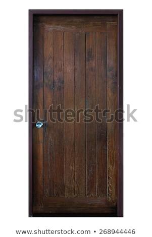 ancient wood door stock photo © tiero