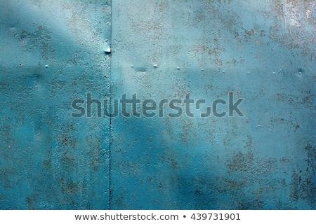 macro texture - metal - rusty peeling paint Stock photo © dgilder