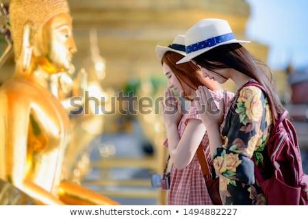 Oración Buda ilustración cielo puesta de sol naturaleza Foto stock © adrenalina