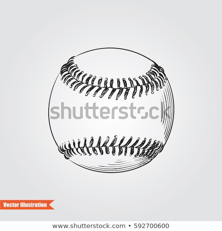 sketch cute baseball ball vector background stock photo © kali