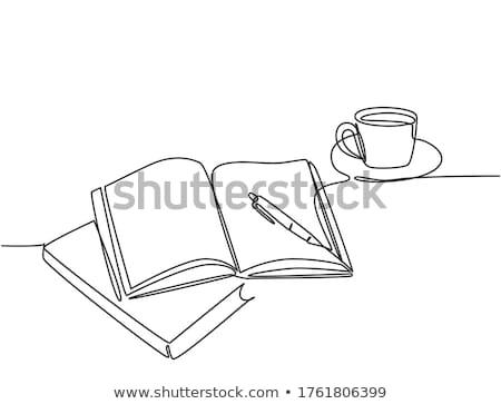 эскиз ноутбук пер карандашом школы книга Сток-фото © kali