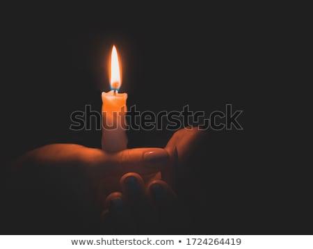Mumlar inanç yangın Stok fotoğraf © sundaemorning