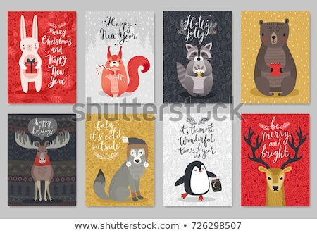 holiday squirrel stock photo © lightsource