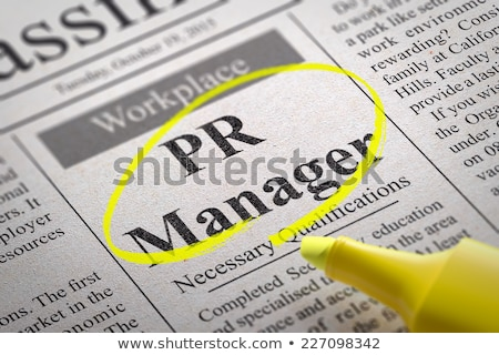 Pr manager krant werk corporate Stockfoto © tashatuvango