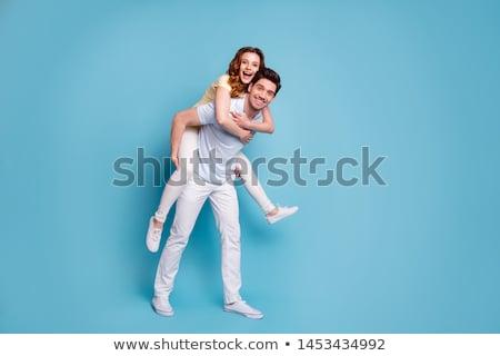 Jeunes belle affectueux élégant couple Photo stock © dariazu