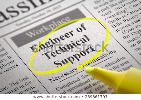 Stock photo: Network Engineer Vacancy in Newspaper.