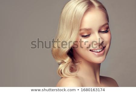 Beautiful delicate blonde woman Stock photo © NeonShot