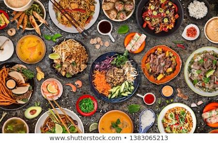 Азии · продовольствие · китайский · риса · креветок - Сток-фото © m-studio
