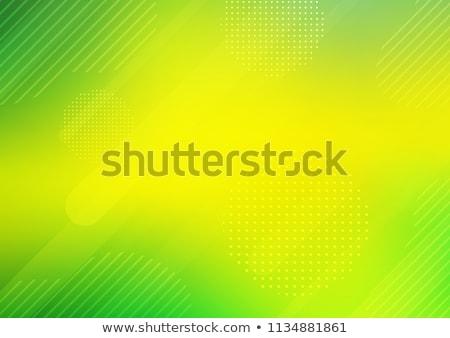Abstract mezzitoni verde giallo design onda Foto d'archivio © aliaksandra