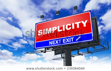 Simplicity on Red Billboard. Stock photo © tashatuvango