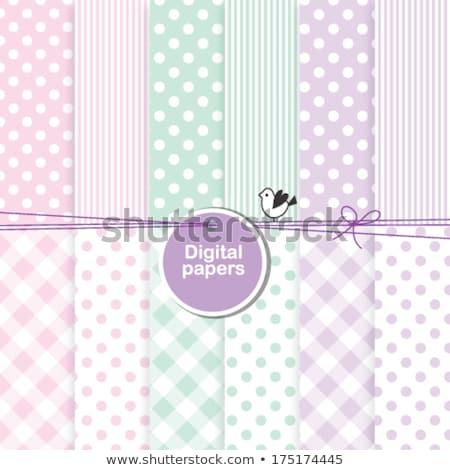 お土産 ピンク エプロン 抽象的な 子 ストックフォト © designsstock