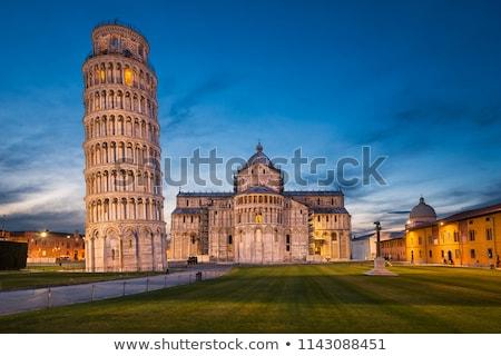 塔 · イタリア · 空 · 教会 · 青 · 都市 - ストックフォト © jirivondrous