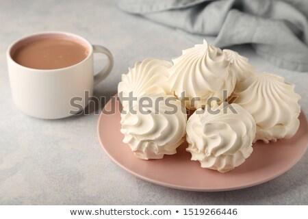 горячий шоколад оранжевый Кубок взбитые сливки корицей Сток-фото © zhekos