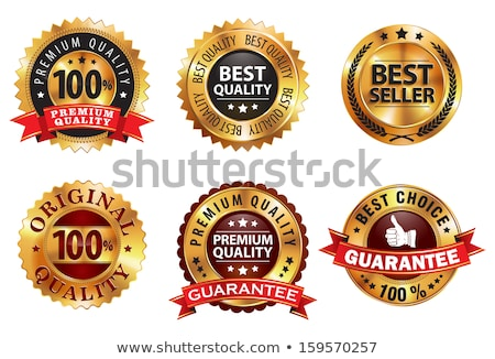 best quality golden vector icon design stock photo © rizwanali3d