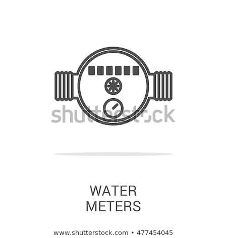Water meter and a receipt for payment Stock photo © Valeriy