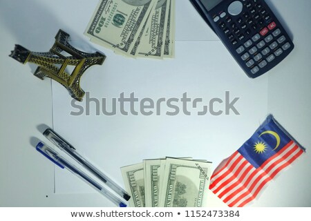 ABD Malezya minyatür bayraklar yalıtılmış beyaz Stok fotoğraf © tashatuvango