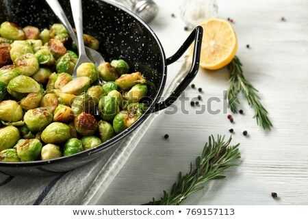 Brussels sprouts on fork Stock photo © fanfo