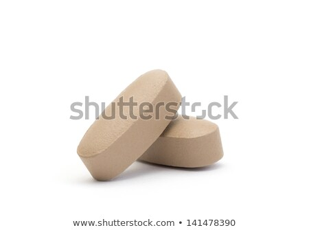 blue box with brown pills blister pack stock photo © ironstealth