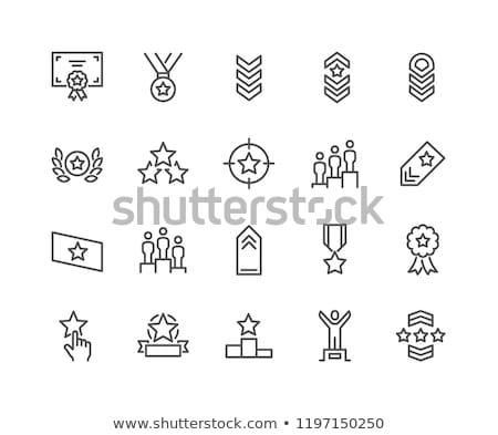 Linha ícones militar exército guerra Foto stock © zelimirz