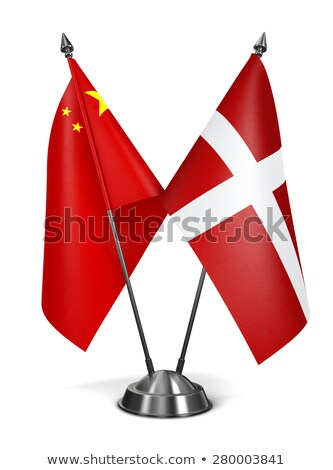 Stock photo: China and Sovereign Military Order Malta - Miniature Flags.