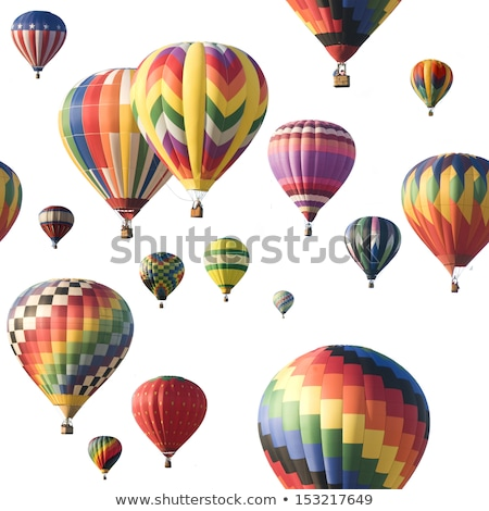 Hot Air Balloon Against White Stock photo © Balefire9