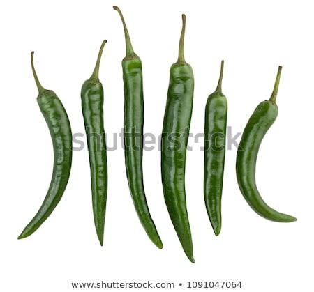 Small spicy green chili Stock photo © sarahdoow