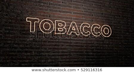 Tobacco neon sign Stock photo © ldambies