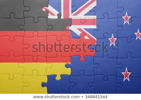 Europeo Unión Nueva Zelandia banderas rompecabezas aislado Foto stock © Istanbul2009