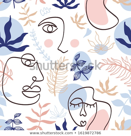 Woman Face On Floral Background Stock photo © jul-and