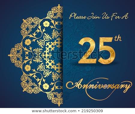 Stok fotoğraf: 25th Wedding Anniversary Invitation