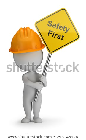 3d small people - safety first Stock photo © AnatolyM