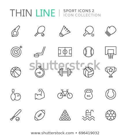 De bilhar bola fino linha ícone teia Foto stock © RAStudio