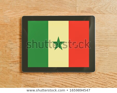 Tablet with Senegal flag Stock photo © tang90246