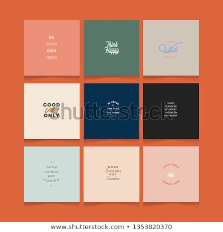 Collection of vector minimalistic typographic motivational quotes Stock photo © orson
