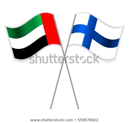 Объединенные Арабские Эмираты Финляндия флагами головоломки изолированный белый Сток-фото © Istanbul2009