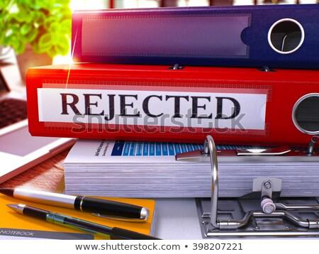 Red Office Folder with Inscription Rejected. Stock photo © tashatuvango
