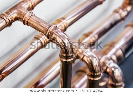 Cobre pipes casa aquecimento foco metal Foto stock © stevanovicigor