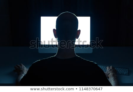 homem · surfe · internet · digital · mundo - foto stock © sdecoret